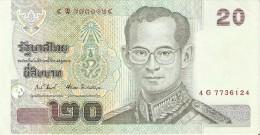 BILLETE DE TAILANDIA DE 20 BAHT   (BANKNOTE) - Thailand