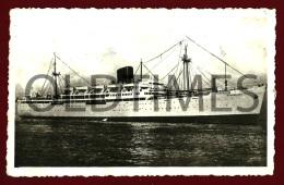 PORTUGAL - COMPANHIA NACIONAL DE NAVEGAÇÃO - PAQUETE MOÇAMBIQUE - 1940 REAL PHOTO PC - Dampfer