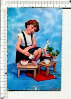 FILLETTE Jouant à La  Dinette  - Le Thé  - N° 3080 - - Other