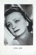 Cinéma-Opéra/Photo D´Artiste /Rita LICK/ 1942     PA110 - Other