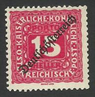 Austria, 15 H. 1919, Sc # J66, MH - Strafport