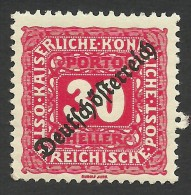 Austria, 30 H. 1919, Sc # J69, MH - Strafport