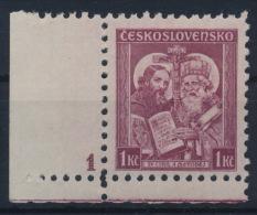 "*Czechoslovakia 1935 Mi 340 Plate Planche Platte ""1"" Kyrill Method MH - Tschechoslowakei/CSSR"