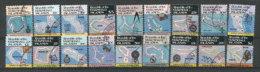 Série Oblitérée:Cartes Géographiques Des Atolls (ILES MARSHALL).Série Complète 18 T-p. Côte 41,50 € (rare) - Geographie