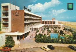 OLD CAR, CITROEN DS, Hotel Bayren,Gandia,  Vintage Old Photo Postcard - Turismo