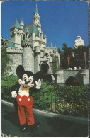 US.- Disneyland. Welcome To Fantasyland. Micky Mouse Greet Visitors In Front Of Sleeping Beauty Castle. 2 Scans - Disneyland