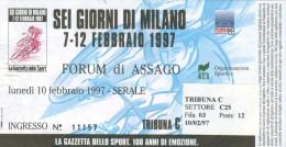 111 CICLISMO LOTTO DI 3 BIGLIETTI SEI GIORNI MILANO 1996-1997-1998 - Cyclisme