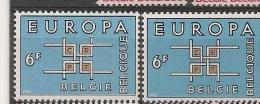 BELGIE BELGIQUE 1261 Couleur Bleue Déplacée / Blauwe Kleur Verschoven ** - Abarten Und Kuriositäten