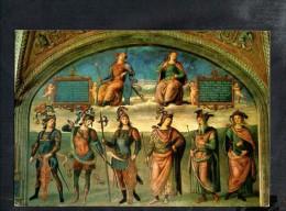 L2586 Perugia - Collegio Del Cambio - Perugino: La Fortezza, La Temperanza E Vari Personaggi - Art, Pittura, Painting - Italia