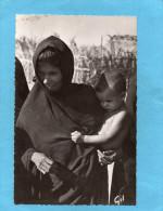 MAURITANIE- Femme  Maure  Avec Son Enfant -gros Plan  -années 60-édition GIL - Mauritania