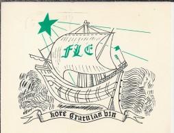 Di.- Esperanto?. Kore Gratulas Bin. - Fle - 2 Scans - Postkaarten