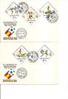 Coupe Du Monde En Espagne -1982 ( 3 FDC De Hongrie à Voir) - World Cup