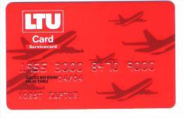 Germany - LTU Membercard Airline Card - Flugzeug - Avion - Plane - Vliegtuigen