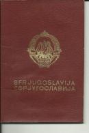 YUGOSLAVIA  ---  PASSPORT   --   1984    --  HEATHROW AIRPORT LONDON, ITALIA, AUSTRIA - Historische Dokumente