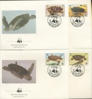 Anguilla 1983 WWF Schilkröten 541/44 FDC (R2294) - Anguilla (1968-...)
