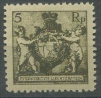 Liechtenstein 1921 Landeswappen 48 B Ungebraucht (R1204) - Liechtenstein
