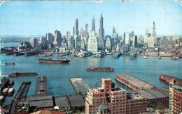 NEW YORK CITY - View Of Lower Manhatten, 3 Fach Frankierung, Gel.1956 N.Wien - Manhattan