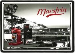 CPM Carte Publicitaire NESPRESSO Maestria Cappuccino Caffe Coffee Pub Promo Pubblicita Advertising Card Promocard Nestlé - Publicité