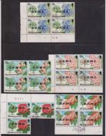 Montserrat 1976 Flowering Tree Officials - 5 Positional Blocks FU - Montserrat