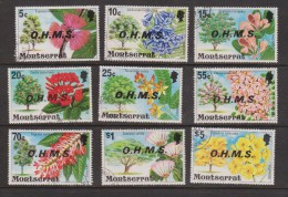Montserrat 1976 Flowering Tree Officials Short Set Of 9 To $ 5 VFU - Montserrat
