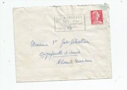 Lettre , BORDEAUX R.P. , Flamme : Bordeaux Et Ses Grands Vins , 1956 , 2 Scans - Marcophilie (Lettres)