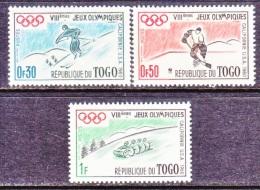 TOGO  369-71    *  WINTER  OLYMPICS - Togo (1960-...)