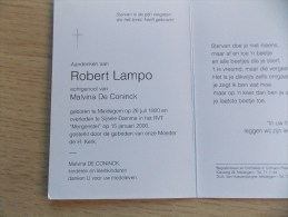 Doodsprentje Robert Lampo Maldegem 26/7/1920 Sijsele Damme 15/1/2000 ( Malvina De Coninck ) - Religion & Esotericism