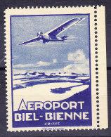 Flugpostvignette Aéroport Biel-Bienne ** - Luftpost