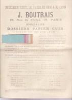 PARIS (75006) / PUBLICITES / PAPIERS / Importation Direct Des Papiers De Chine & Du Japon J.BOUTRAIS 19,rue De Sèvres - Publicités