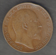 GREAT BRITAIN / GRAN BRETAGNA - EDWARD VII - 1 PENNY ( 1910 ) - 1902-1971 : Monete Post-Vittoriane