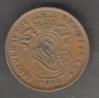BELGIQUE / BELGIO 2 CENTIMES (1909) - LEOPOLD II - 1865-1909: Leopoldo II