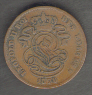 BELGIQUE / BELGIO - 2 CENTIMES (1870) - LEOPOLD II - 1865-1909: Leopoldo II