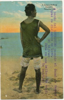 Panama City  Unique Bathing Costume Black Girl Ship Essequibo Canal Zone British Paquebot Stamps - Panama