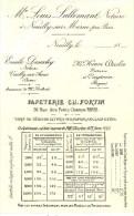 PARIS (75001) / PUBLICITES / Publicité Avec Tarifs Papeterie CH.FORTIN 59,rue Des Petits-Champs PARIS - Publicités