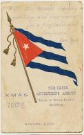 Cuban Flag Embossed Advert The Beers Advertising Agency Bank Of Nueva Scotia 1907 - Cuba