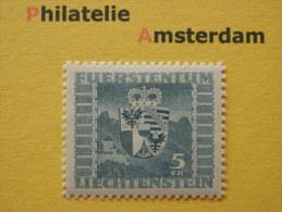 Liechtenstein 1945, SCHLOSS VADUZ / COAT OF ARMS BLASONS WAPENSCHILD HERALDIK WAPPE: Mi 243, ** - Unused Stamps