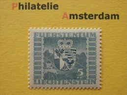 Liechtenstein 1945, SCHLOSS VADUZ / COAT OF ARMS BLASONS WAPENSCHILD HERALDIK WAPPE: Mi 243, ** - Liechtenstein
