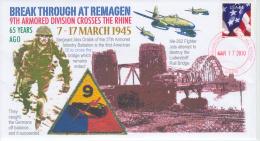 VERENIGDE STATEN VAN AMERIKA- FIRST DAY COVER- WORLD WAR II- BATTLE AT REMAGEN, GERMANY. - WW2