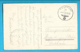 C.P.A. Feldpost 17/12/43 Envoyée à Hagondange ( Hagendingen ) - Allemagne