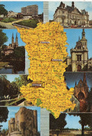 CP - CARTE - NIORT  - LA RESIDENCE DE L'ORANGERIE - L'EGLISE ST ANDRE - LE JARDIN DES PLANTES - LE DONJON - L'HOTEL DE V - Niort