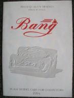 Bang 1994 CATALOGO  Scala 1/43 - Italia