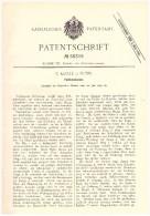 Original Patent - C. Klotz In Eutin , 1890 , Füllfederhalter , Füller !! - Schrijfgerief