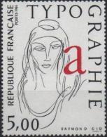 FRANCE Poste 2407 ** Tableau Figure Allégorique : La Typographie - Neufs