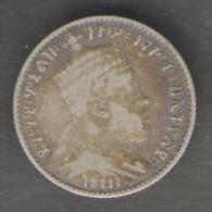 Ethiopia - GERSH Menelik II AG SILVER - Etiopia