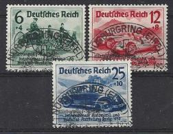 Germany  1939  Nurburgring-Rennen  (o) Mi. 695-697 (Gepruft BPP) See Scans X3 - Oblitérés