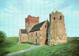 Postcard - Dover Roman Pharos East Lighthouse & St. Mary´s Church, Kent. P.1. - Dover