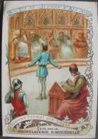 ANCIENNE IMAGE Chromo Chocolat D´Aiguebelle Série LA VIE DE JEANNE D´ARC N° 24 - JEANNE DEVANT LES JUGES - Images Religieuses
