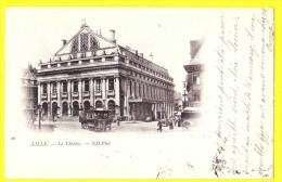 * Lille - Rijsel (Dép 59 - Nord - France) * (ND Phot, Nr 10) Le Theatre, Theater, Paardentram, Tram à Cheval, TOP, Rare - Lille