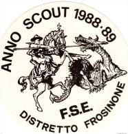 Scoutismo,2 Adesivi Per L´anno1988-89 San Giorgio Frosinone  FSE - Scoutismo