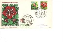 Fleurs ( FDC De Nouvelle-Calédonie De 1958 à Voir) - Plants